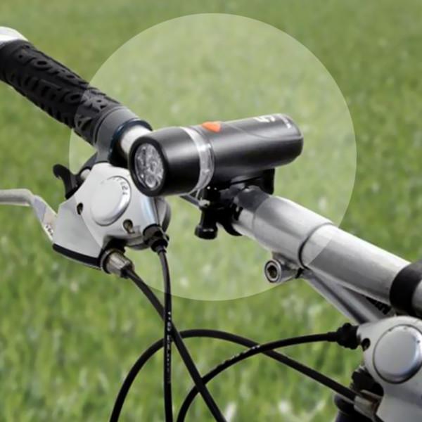 Σετ φώτα ποδηλάτου με 5 λευκά led μπροστά και 5 κόκκινα led πίσω