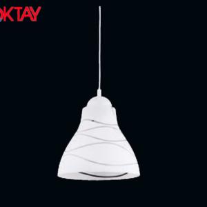 Φωτιστικό Μονόφωτο Κρεμαστό από Γυαλί 2231 OKTAY