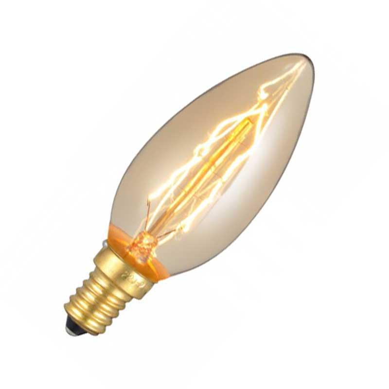 Λάμπα Retro Νήματος Edison E14 40W Κερί Ροοστατούμενη Μπρονζέ