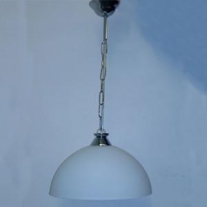 Φωτιστικό Μονόφωτο Κρεμαστό από Γυαλί Οπάλ 2266 OKTAY