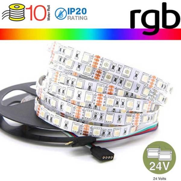 Ταινία Led 5050 24V IP20 RGB 9W/m 10m 600lms/W V-TAC 2592