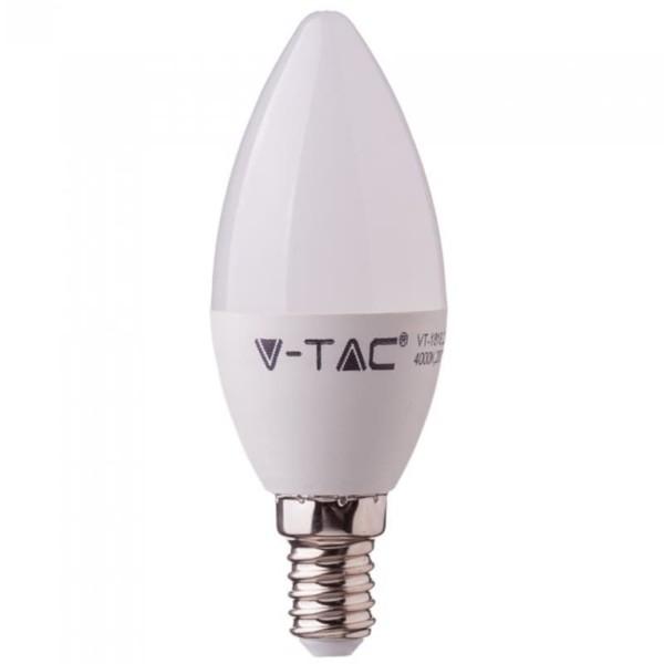 LED Κερί Samsung Chip 7W E14 Θερμό Λευκό-3000K V-Tac 111