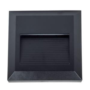 Επιτοίχιο Φωτιστικό Σκαλιών Led 2W 3000K Θερμό Λευκό IP65 Μαύρο V-Tac 1323