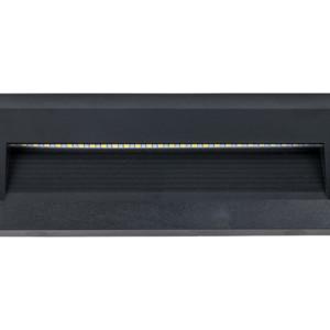 Επιτοίχιο Φωτιστικό Σκαλιών Led 3W 4000K Ουδέτερο Λευκό IP65 Μαύρο V-Tac 1328