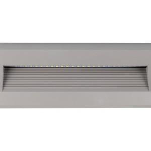 Επιτοίχιο Φωτιστικό Σκαλιών Led 3W 3000K Θερμό Λευκό IP65 Γκρί V-Tac 1331