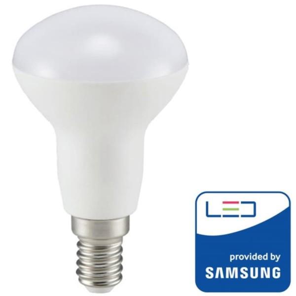 Λάμπα LED με chip SAMSUNG 6W Καθρέπτου/R50 E14 3000K Θερμό Λευκό V-Tac 138