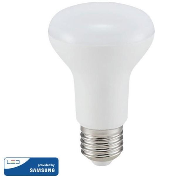 Λάμπα LED με chip SAMSUNG 8W Καθρέπτου/R63 E27 3000K Θερμό Λευκό V-Tac 141