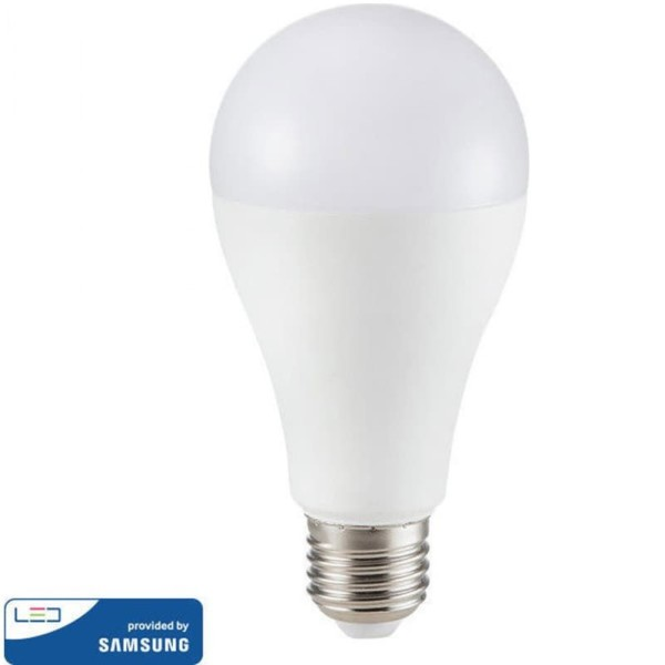 LED Plastic Samsung Chip Τύπου Αχλάδι A65 15W E27 Ουδέτερο Λευκό-4000K V-Tac 160