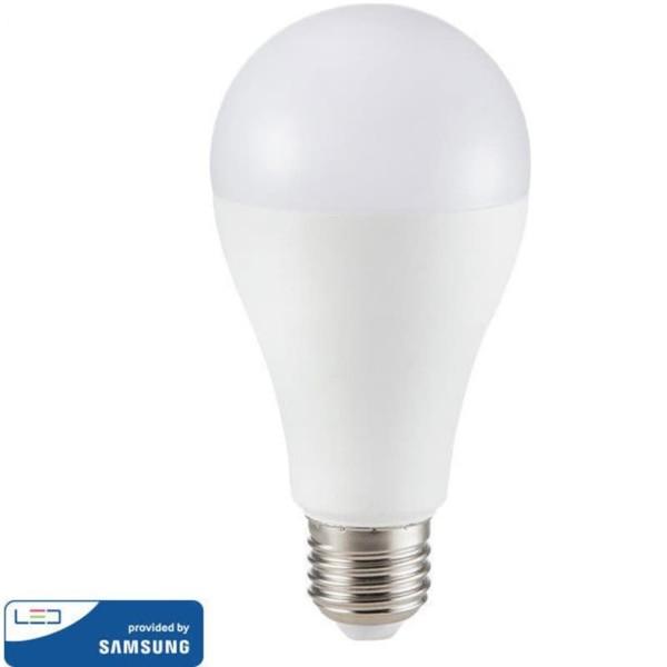 LED Plastic Samsung Chip Τύπου Αχλάδι A65 15W E27 Ψυχρό Λευκό-6400K V-Tac 161