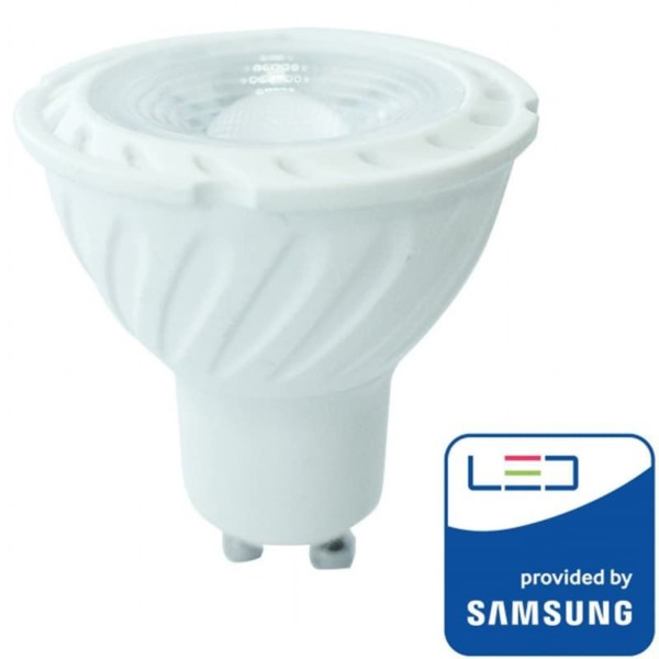LED Πλαστικό Spot GU10 SMD 7W 38° Samsung Chip Ψυχρό Λευκό-6400K V-Tac 167