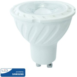 LED Spot GU10 SMD 6.5W 38° Samsung Chip Θερμό Λευκό-3000K V-Tac 189