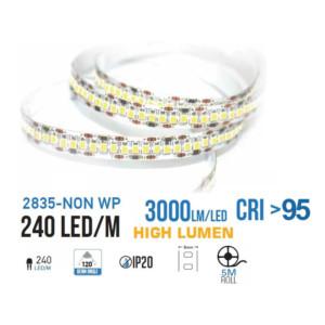 Ταινία LED 18W/m 120 SMD/m 3000 lumens/m 5m IP20 Θερμό Λευκό VT-5730 V-Tac 2162