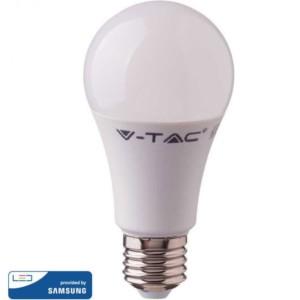 LED Plastic Samsung Chip Τύπου Αχλάδι A60 11W E27 Θερμό Λευκό-3000K V-Tac 231
