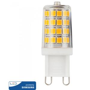 Λάμπα LED G9 230V 3W Samsung Chip 3000K-Θερμό Λευκό V-TAC 246