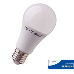 Λάμπα LED V-Tac A60 με chip SAMSUNG 8.5W E27 3000K Θερμό Λευκό -252 mμε Lms ανά Watt