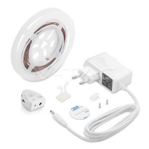 Σετ Ταινία LED με Ανιχνευτή Κίνησης για μονό κρεβάτι θερμό λευκό VT-8067 Κωδικός 2548