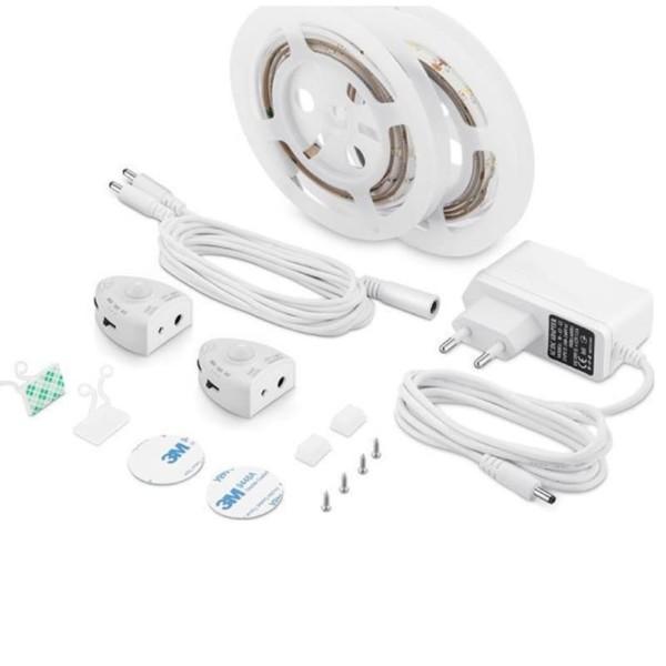 Σετ Ταινία LED Dimmable 6W με Ανιχνευτή Κίνησης για Διπλό κρεβάτι 2X1.2M Ουδέτερο Λευκό 4500K V-Tac 2551