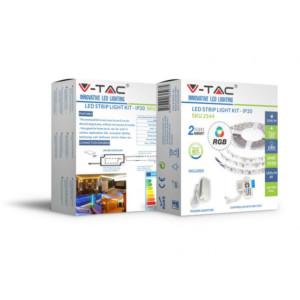 Σετ Eύκαμπτης Tαινίας LED SMD5050 10.8W 60 LED RGB 12V IP20 V-TAC 2558