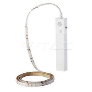 Σετ Εύκαμπτης Ταινίας LED 2.4W 4000Κ Με Αισθητήρα Κίνησης 1 μέτρο V-TAC 2574
