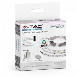 Πλήρες σετ Ταινίας LED10W 60smd 5050 Led/m RGB με Controller συμβατή με Amazon Alexa & Google Home V-TAC 2583