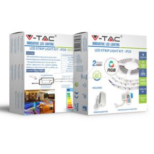 Πλήρες σετ Ταινίας LED10W 60smd 5050 Led/m RGB + White με Controller συμβατή με Amazon Alexa & Google Home V-TAC 2584