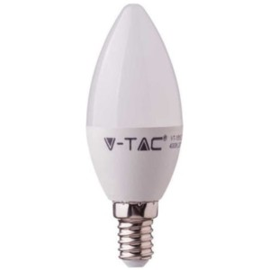 Λάμπα LED Κερί 4.5W E14 High Lumen 120lm/w A++ Samsung Chip 4000K-Ουδέτερο Λευκό V-TAC 259