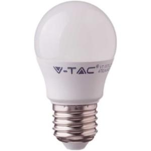 Λάμπα LED Σφαιρική G45 4.5W E27 High Lumen 120lm/w A++ Samsung Chip 3000K-Θερμό Λευκό V-TAC 261