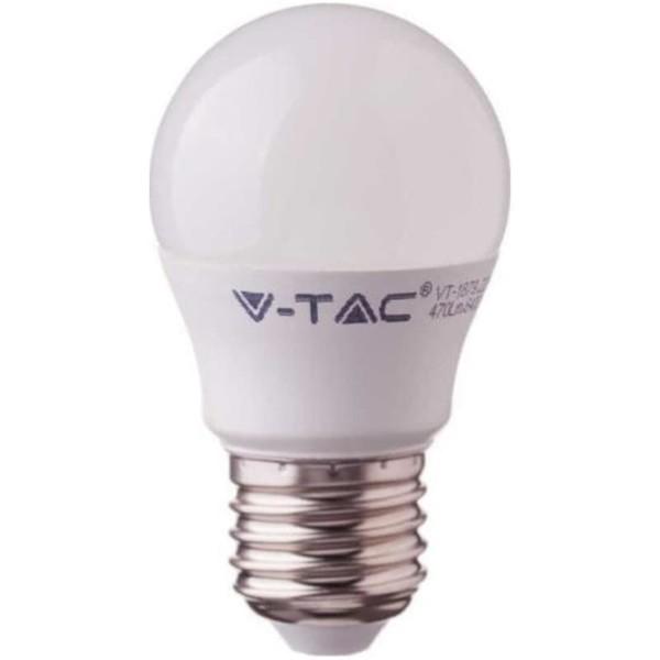 Λάμπα LED Σφαιρική G45 4.5W E27 High Lumen 120lm/w A++ Samsung Chip 4000K-Ουδέτερο Λευκό V-TAC 262