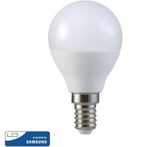 Λάμπα LED Σφαιρική G45 4.5W E14 High Lumen 120lm/w A++ Samsung Chip 6400K-Ψυχρό Λευκό V-TAC 266