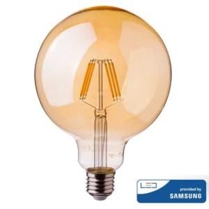Λάμπα LED Amber Filament 6W G95 Samsung Chip 2200K-Θερμό Λευκό V-TAC 293