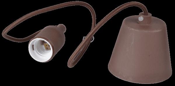 Ανάρτηση Καφέ Κρεμαστό Φωτιστικό Σιλικόνης 1Φ V-TAC 3475