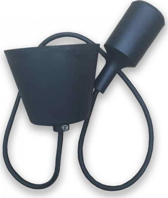 Ανάρτηση Μαύρη Κρεμαστό Φωτιστικό Σιλικόνης 1Φ V-TAC 3478