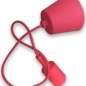 Ανάρτηση Κόκκινη Κρεμαστό Φωτιστικό Σιλικόνης 1Φ V-TAC 3480