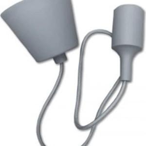 Ανάρτηση Γκρί Κρεμαστό Φωτιστικό Σιλικόνης 1Φ V-TAC 3481