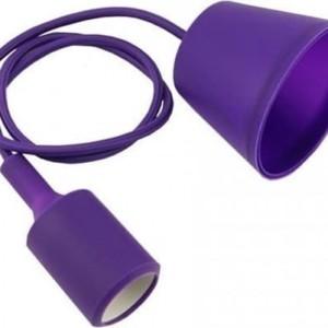 Ανάρτηση Μωβ Κρεμαστό Φωτιστικό Σιλικόνης 1Φ V-TAC 3483
