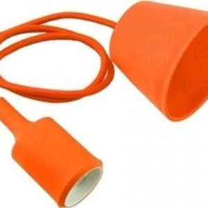 Ανάρτηση Πορτοκαλί Κρεμαστό Φωτιστικό Σιλικόνης 1Φ V-TAC 3484