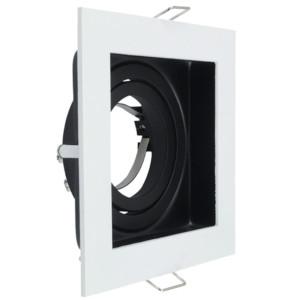 Σποτ για GU10 ή MR16 Τετράγωνο Κινητό Περιστρεφόμενο Λευκό Μεταλλικό V-TAC 3597