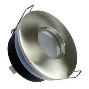 Σποτ Χωνευτό V-Tac 3614 για GU10 και MR16 Στρογγυλό Satin Nickel IP 54 με Γυαλί Ματ
