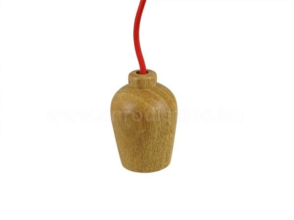 Ντουί Ξύλινο-Κόκκινο Καλώδιο Κρεμαστό Φωτιστικό Ε27 V-TAC 3723