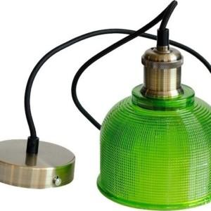 Κρεμαστό Φωτιστικό 1Φ Πράσινο Γυαλί V-TAC 3734