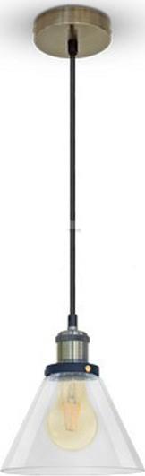Κρεμαστό Φωτιστικό 1Φ Διάφανο Γυαλί V-TAC 3738