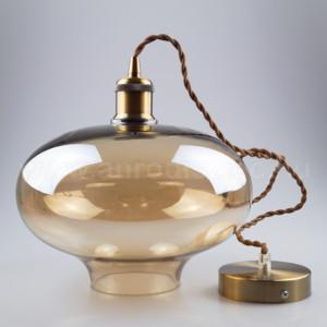 Κρεμαστό Φωτιστικό 1Φ Amber Γυαλί V-TAC 3741