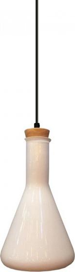 Κρεμαστό Φωτιστικό 1Φ Λευκό Γυαλί (+Ξύλο) V-TAC 3758