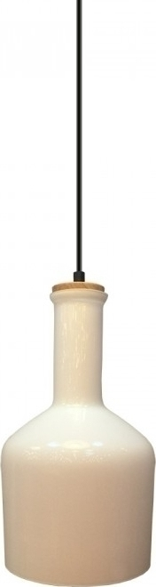 Κρεμαστό Φωτιστικό 1Φ Λευκό Γυαλί (+Ξύλο) V-TAC 3760