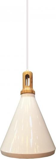 Κρεμαστό Φωτιστικό Σιδερένιο Λευκό (+Ξύλο) V-TAC 3761
