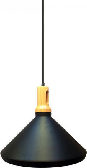 Κρεμαστό Φωτιστικό Σιδερένιο Μαύρο (+Ξύλο) V-TAC 3764