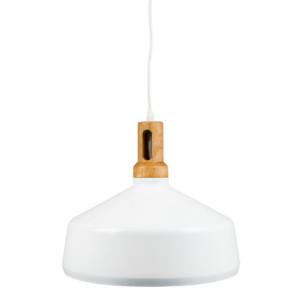 Κρεμαστό Φωτιστικό Σιδερένιο Λευκό (+Ξύλο) V-TAC 3765