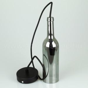 Μπουκάλι Γκρί Γυαλί Κρεμαστό Φωτιστικό Ε14 1Φ V-TAC 3775
