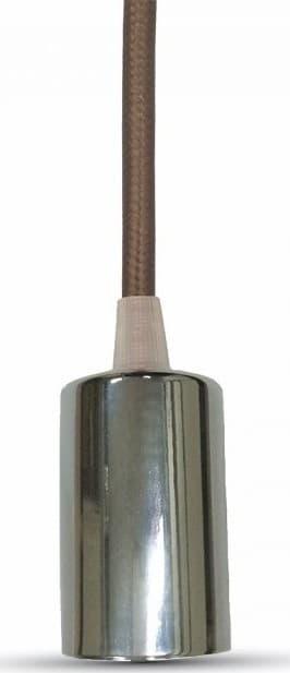 Ανάρτηση Καφέ Καλώδιο Κρεμαστό Φωτιστικό Χρώμιο 1Φ V-TAC 3784