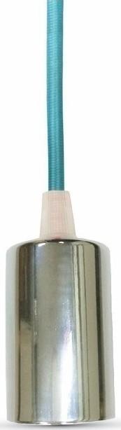 Ανάρτηση Γαλάζιο Καλώδιο Κρεμαστό Φωτιστικό Χρώμιο 1Φ V-TAC 3787